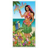 """Déco de porte """"Hula Girl"""" 76 x 152 cm"""