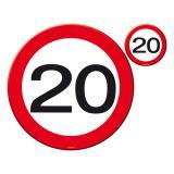 """Sets de table """"20 ans"""" 8 pcs"""