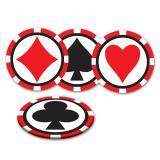 """Dessous-de-verre """"Cartes à jouer poker"""" 8 pcs"""