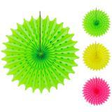 """Déco de plafond lumière UV en papier alvéolé """"Neon"""" 45 cm"""