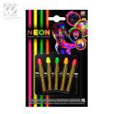 "Lot de 5 crayons de maquillage UV ""Neon Colours"""