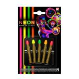 "Lot de 5 crayons de maquillage UV ""Neon Colours"""