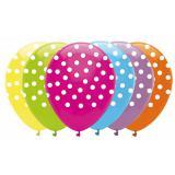 """Ballons de baudruche multicolores """"Petits points"""" 6 pcs."""