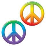 """Déco murale """"Peace & love batik"""" 3D"""