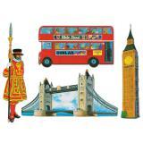 """Déco murale """"Emblèmes britanniques"""" 4 pcs 41 cm"""