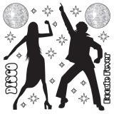 """Déco murale """"Disco Dancing"""" 22 pcs"""