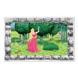 """Déco murale """"Fenêtre sur le jardin de la princesse"""" 157 cm"""