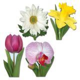 """Déco murale """"Fleurs de printemps"""" 4 pièces"""