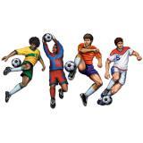 """Déco murale """"Footballeur en action"""" 51 cm 4 pcs"""