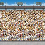 "Déco murale ""Grand stade"" 1,2 x 9,1 m"