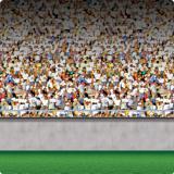 """Déco murale """"Grand stade tribunes du bas"""" 1,2 x 9,1 m"""