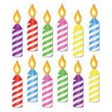 """12 décos murales """"Petites bougies d'anniversaire"""""""