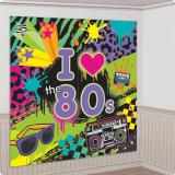 "Déco murale ""Lovin' the 80's"" 165 x 165 cm 2 pcs"