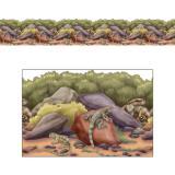 """Frise murale """"Au royaume des reptiles"""" 15,24 m"""