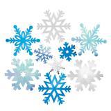 """Déco murale """"Flocons de neige"""" 9 pcs."""