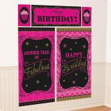 """Déco murale """"Fabulous Birthday"""" 5 pcs."""