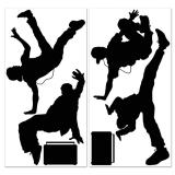 "Silhouettes murale ""Breakdancer"" 6-pcs"