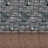 """Déco murale """"Mur de pierre"""" 1,2 x 9,1 m"""