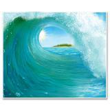 """Déco murale """"Paradis du surf"""" 183 cm"""