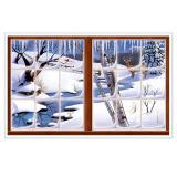 """Déco murale """"Fenêtre hivernale"""" 157 cm"""