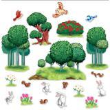 """Déco murale """"Paradis des plantes & des animaux"""" 20 pcs"""