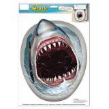 """Déco autocollante pour WC """"Requin blanc"""" 35 x 28 cm"""