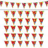"""Guirlande de fanions """"Happy Birthday Ballons Multicolores"""" 10 m - 18"""