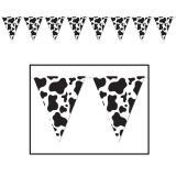"Guirlande de fanions ""Motif vache"" 3,7 m"