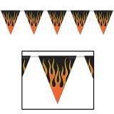 """Guirlande de fanions """"Flammes dangereuses"""" 370 cm"""