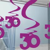 """5 suspensions à spirales """"30 ans"""" 60 cm"""