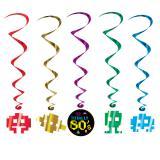 """5 suspensions à spirales """"Années 80"""" 102 cm"""