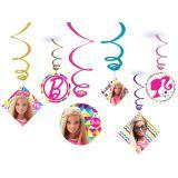 """6 suspensions à spirales """"Le monde coloré de Barbie"""""""