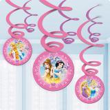 "6 suspensions à spirales ""Princesses Disney"""