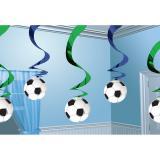 """Décos à spirales """"Football"""" 60 cm 5 pcs"""