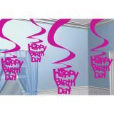 "Suspensions à spirales ""Happy Birthday"" 60 cm 5 pcs"