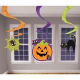 """3 suspensions à spirales """"Halloween coloré"""""""