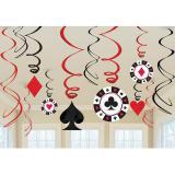 """Décos à spirales """"Las Vegas"""" 12 pcs"""