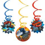 "Suspensions à spirales ""Blaze et les Monster Machines"" 6 pcs."