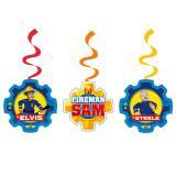 """6 suspensions à spirales """"Sam, le pompier courageux"""""""