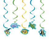 """Suspensions à spirales """"La mer en fête"""" 5 pcs"""