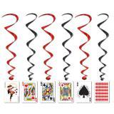 """Suspensions à spirales """"Cartes de poker"""" 102 cm"""