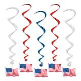 "5 suspensions en spirale ""Stars & Stripes"" 91 cm"