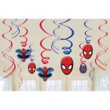 """Suspensions à spirales """"Spider-Man Party"""" 6 pcs."""