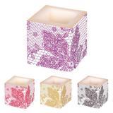 "Bougie cube ""Elegance Deluxe"" 8 cm"