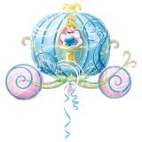 "Ballon en alu XL ""Cendrillon dans son carrosse"" 83 cm"