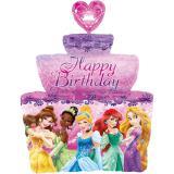 "Ballon en alu XL en forme de gâteau ""Princesses Disney"" 71 cm"