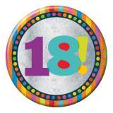 """Macaron XXL """"18 ans"""" 15 cm"""
