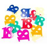 """Confettis XXL """"18 ans multicolores"""" 12 pcs."""