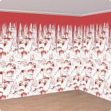 """Déco murale XL """"Mur sanglant d'Horreur"""" 6 m 2 pcs"""