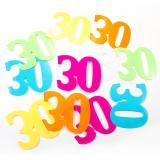 """Confettis XXL """"30 ans multicolores"""" 12 pcs."""